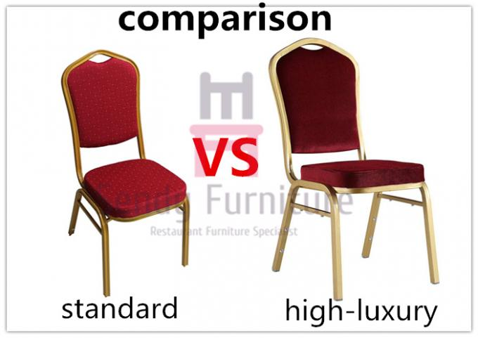 High Back Luxury Aluminum Wedding Banquet Chairs Velvet Seater Top For Indoor