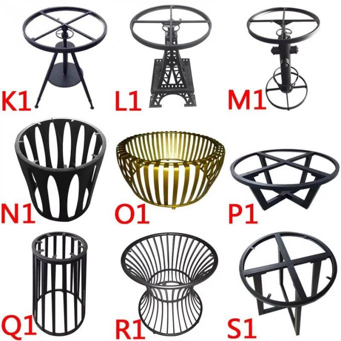 Commercial Metal Table Bases For Wood Tops , Round Dining Table Metal Base
