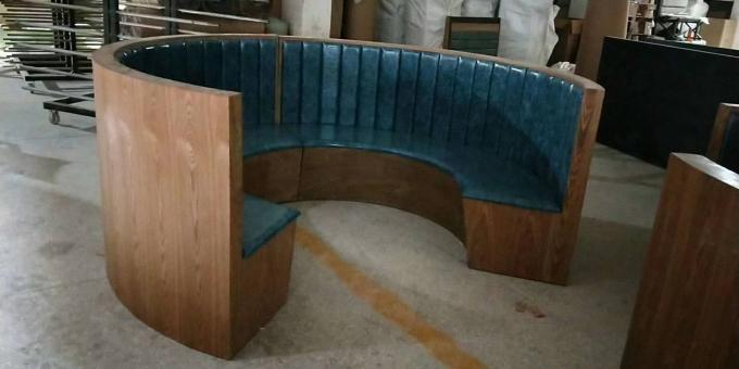 1 2 Circle Wood Chigh Back Restaurant Booths Custom Made