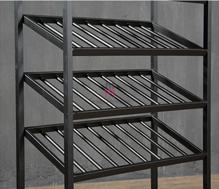 Custom Size Metal Material Wine Rack Shelf  Rustic Chic Style For Restaurant  Bar