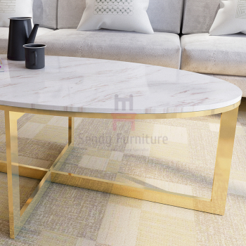 Tempered Glass Oval Rectangular Marble Coffee Table X Shape - Oval shaped marble coffee table