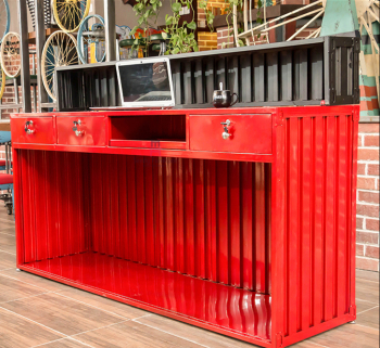 Loft Style / Industrial Unqiue Restaurant Bar Counter For Vintage Music Bar