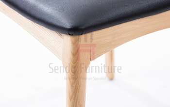 Comfortable Commerical Wood And Upholstered Dining Chairs With Custom Color