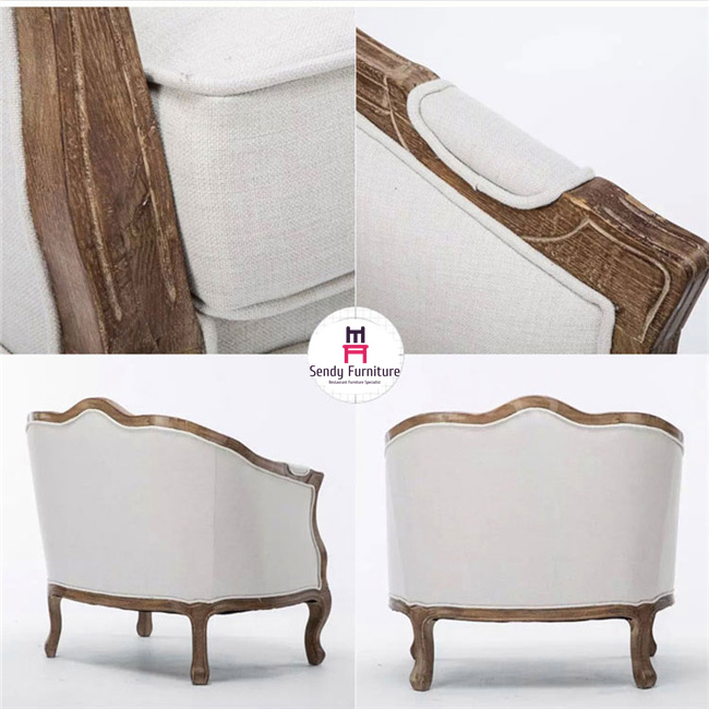 Classical French Style Commercial Booth Seating  With Shapely Backrest And Armrest