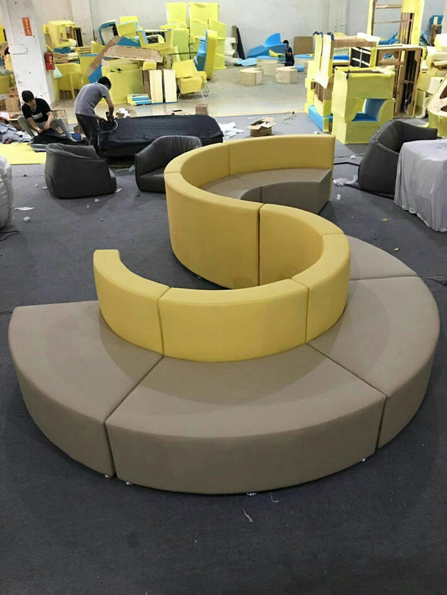 S Shaped  Custom Made Commercial Booth Seating  For Hotel And Conference Centers