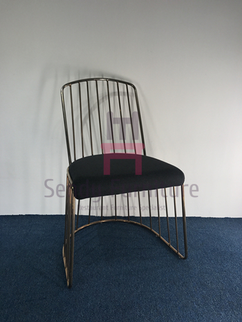 Restaurant & Cafe High Back Armless Chair With Fabric Upholstered 52 * 53 * 94cm