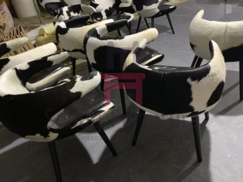 Ash Wood Feet Fiberglass Frost Dining Room Chairs Upholsterd Material With Armrest